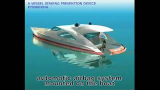 BOAT AIRBAG - anti sinking device for boats