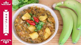 Say what?? An Indian curry made with banana peels? Yes! and oh so vegan!