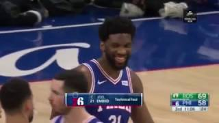 Marcus Smart Shoving Joel Embiid - Smart gets Ejected
