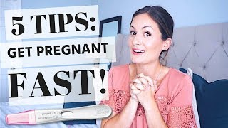 GET PREGNANT (FAST!)    5 TIPS TO PREPARE YOUR BODY FOR PREGNANCY 2018