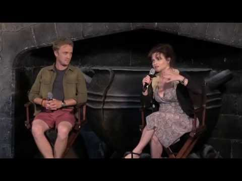 Diagon Alley discussion with Helena Bonham Carter and Tom Felton