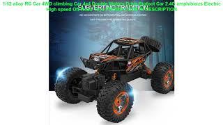 Review 1/12 alloy RC Car 4WD climbing Car 4x4 Double Motors Drive Bigfoot Car 2.4G amphibious Elect