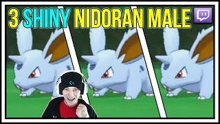 3 SHINY NIDORAN MALE! LIVE SHINY POKEMON REACTIONS IN POKEMON X AND Y WITH EVILSKYHAWK!
