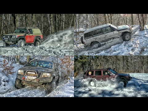 Jeep Cherokee vs Grand Cherokee vs Mitsubishi Pajero vs Nissan Patrol - part 2