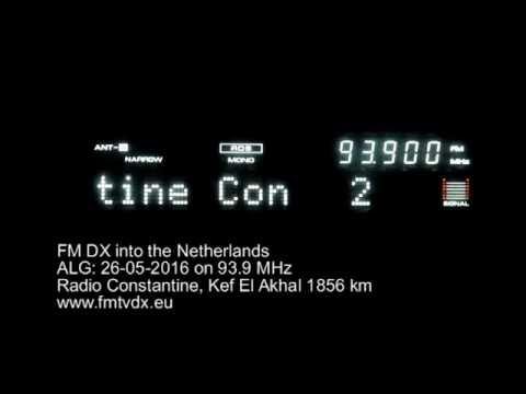 FM DX sporadic E in Holland: ALG 93.9 MHz Radio Constantine
