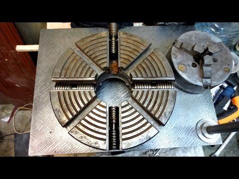 Реставрация 4  кулачкового патрона из металлолома - Restoration 4 cam lathe chuck