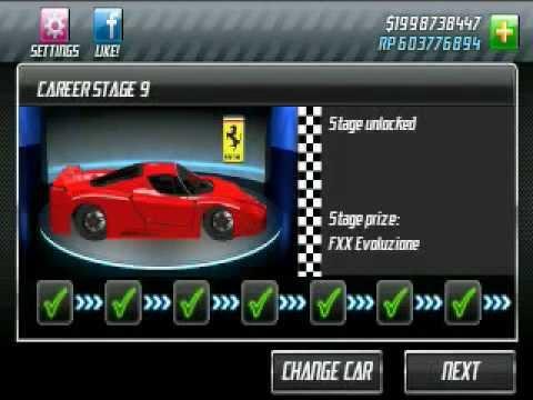 Drag Racing android app v1.5.1 car Upgrade lvl4/7/8/9/10