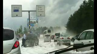 The weather got crazy in Ankara city center on June 16, 2011