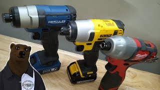 Impact Driver Showdown (12V Edition) Milwaukee vs DeWALT vs Hercules (Harbor Freight)