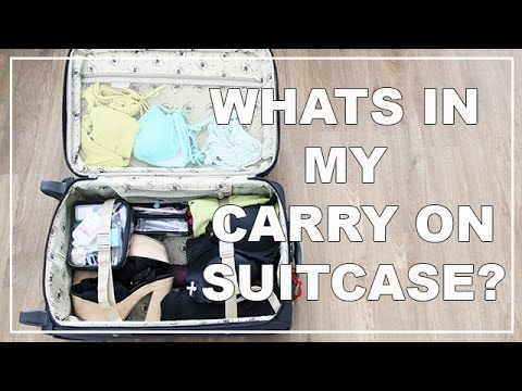 Whats In My Carry On Suitcase