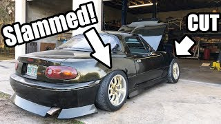 Turning The LS Miata Into a Stance Car!? New Wheels and Cutting Up The Body!