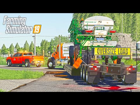 ESCORTING A HEAVY HAUL ON A CLOSED ROAD - HAZZARD COUNTY FS19 (ROLEPLAY)