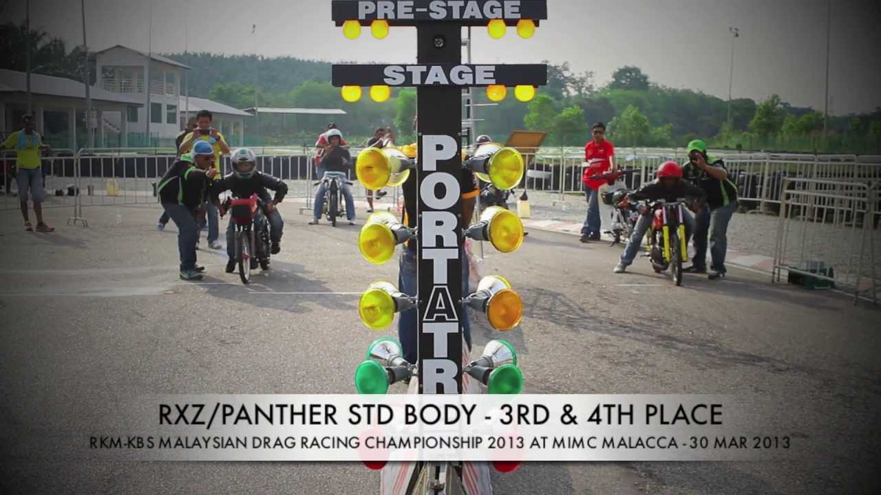 DRAG RACE 201M - RXZ STD BODY - RKM KBS MALAYSIAN DRAG RACING 2013 R2 ...