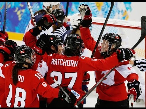 Canada Wins Gold In Women's Hockey Defeating Usa 3-2 video