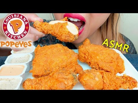 ASMR POPEYES EXTRA CRUNCHY FRIED CHICKEN 🍗 먹방 *No Talking* suellASMR Part 3 thumbnail