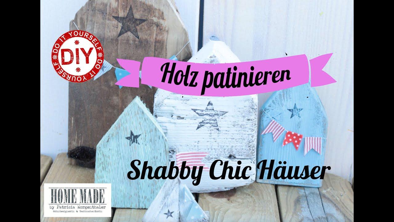 Kerzenständer Holz Shabby Chic ~ DIY Maritimer Shabby Chic Style (Holz patinieren)  YouTube