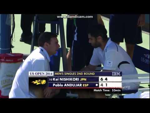 【錦織圭】2014全米オープン 2回戦 VS パブロ・アンドゥハール 6-4、6-1のキャプチャー