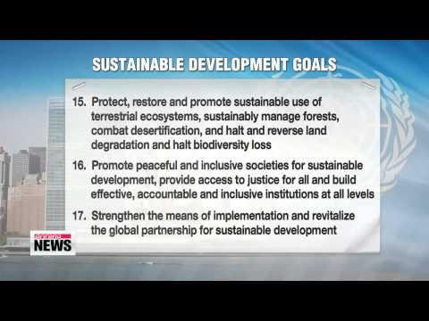 UN adopts 2030 Agenda for Sustainable Development   UN 개발정상회의, 2030 선언 채택