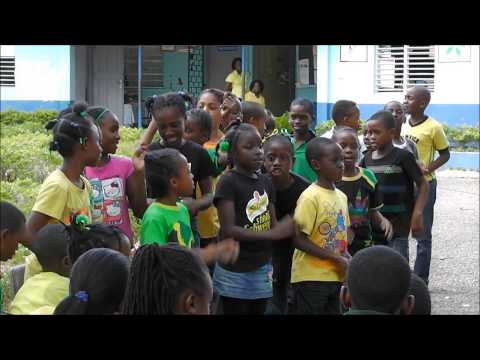 Sporting Central Academy visits Tollgate Primary on Jamaica Day