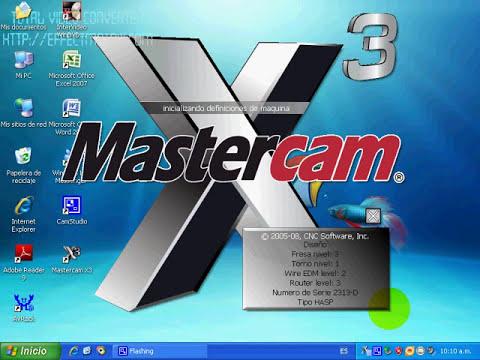 instalacion y/o RE-instalacion de mastercam x3 spanish.wmv