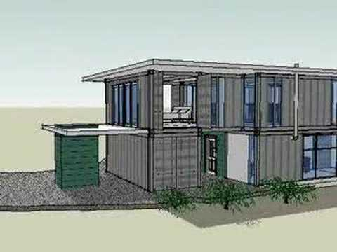 Hardy island shipping container beach house youtube for Beach box house plans