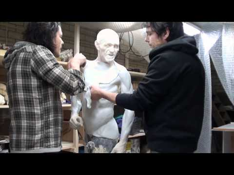 Creating the chest skin of Ötzi's reconstruction