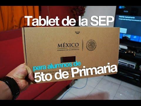Tablet Android de la SEP 5to de primaria ciclo escolar 2014-2015