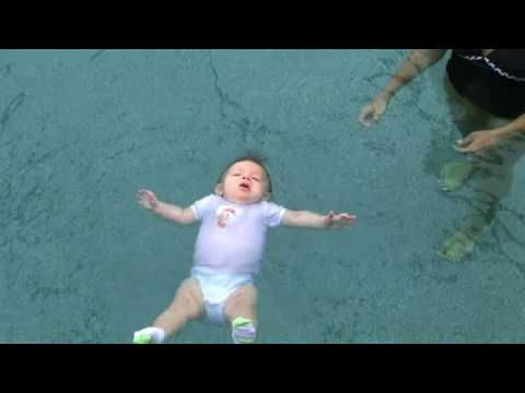 Rene-Float infant swimming resource ISR  7 month old baby floatting