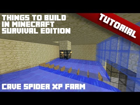 Things To Build In Minecraft - Survival Edition [Cave Spider XP Farm]