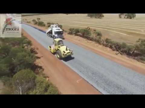 Road Bituminised    Incredible Construction Work   Moora Shire Road Works '