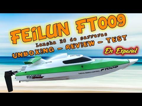 Lancha de carreras Feilun Ft009 Unboxing, Review y test en Español