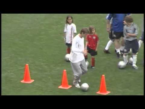 David Beckham soccer highlights skills dribbling drills