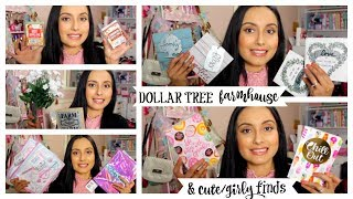 DOLLAR TREE HAUL | BEAUTIFUL FARMHOUSE DECOR & CUTE GIRLY ITEMS!!! NEW FINDS!!! MAY 2019