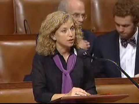 Rep Wasserman Schultz speaks on behalf of the Iran Sanctions Enabling Act of 2009 (HR 1327)