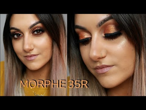MORPHE 35R PALETTE   Gold Bronze Smokey Eye   MAKEUP TUTORIAL