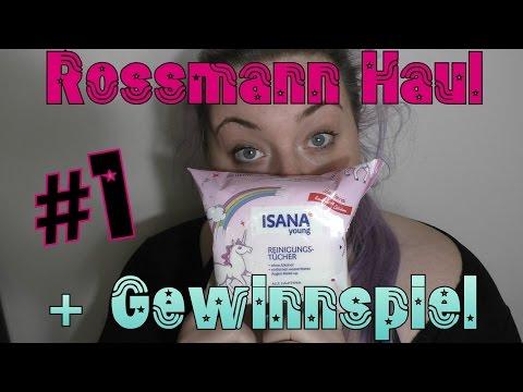[Haul] Rossmann Haul #1 + Einhorn Gewinnspiel