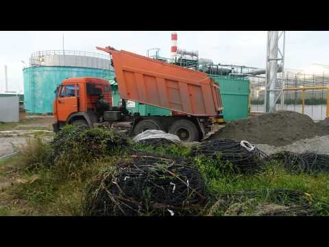 Камаз грузовик самосвал перевернулся авария