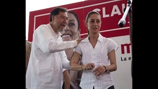 Mitin Claudia  Sheinbaum @fernandeznorona : pongamos de pie a nuestro país; ayudemos a AMLO !