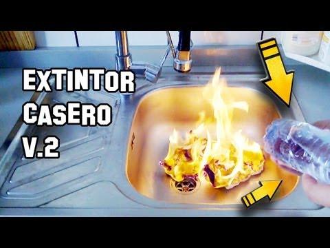 Como Hacer un Extintor Casero, Con Litines y Pastillas Efervescentes