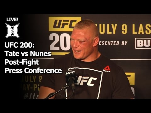 UFC 200: Tate vs Nunes Post-Fight Press Conference (LIVE! / Complete / Unedited)