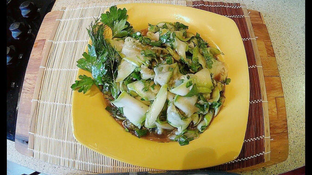 Салаты рецепты с из кабачков
