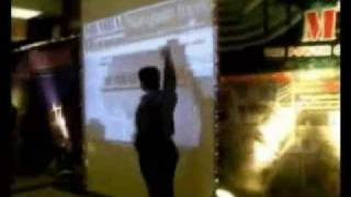 Interactive wall projection system installation by TouchMagix for Times Of India Group