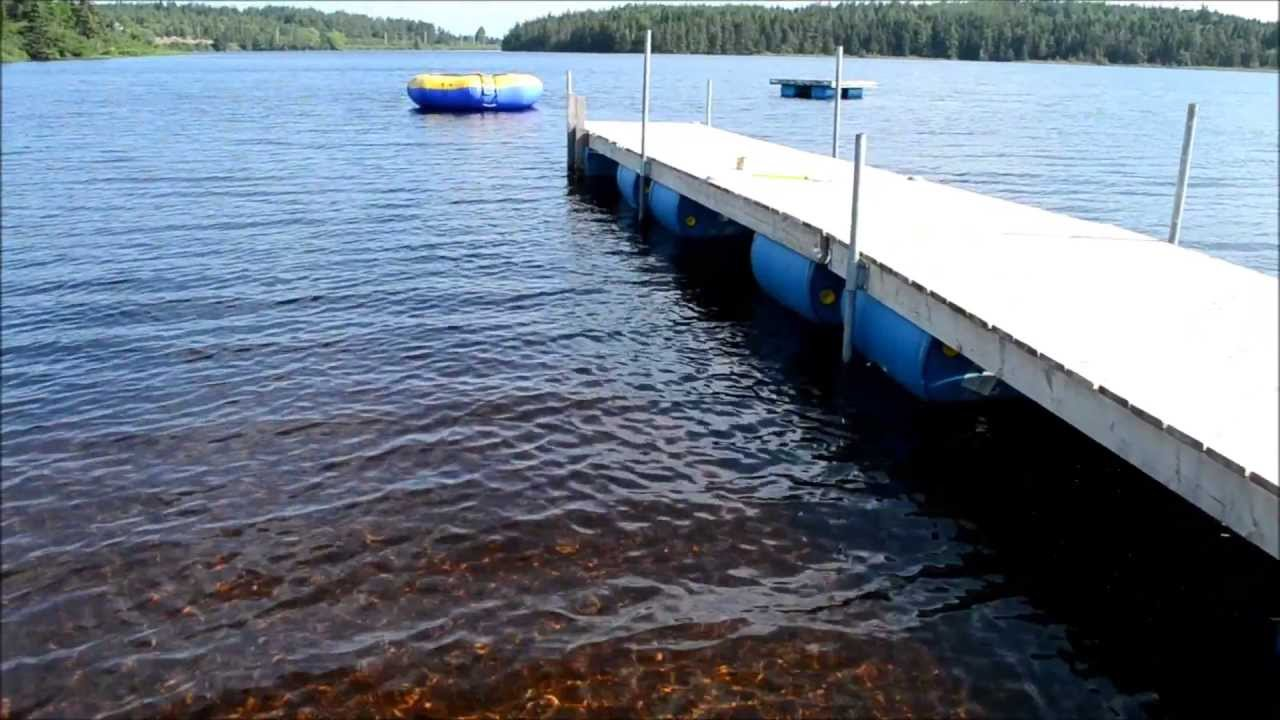 How To Build A Floating Dock Using Barrels Youtube