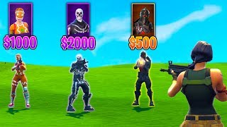 The RANDOM SKIN KILL MONEY CHALLENGE in Fortnite Battle Royale