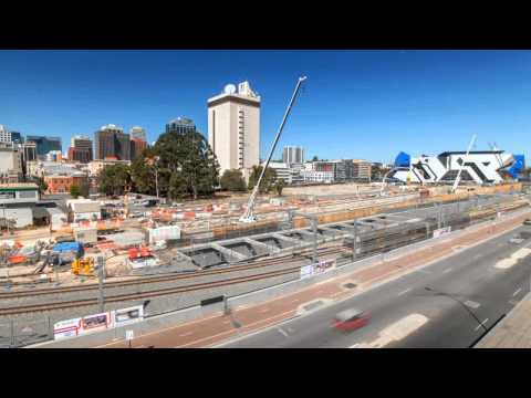 Perth City Link works time lapse footage (west)