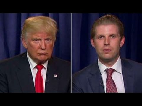 Donald and Eric Trump on illegal immigration and GOP unity