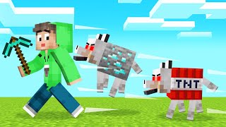 ALL BLOCKS Are WOLVES In MINECRAFT! (Dangerous)