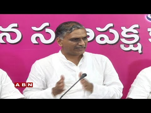 TRS Leader Harish Rao Open Letter to Uttam Kumar Reddy on TDP Alliance | Press Meet