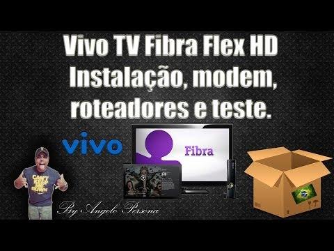 Vivo TV Fibra Flex HD - Instalação. modem. roteadores e teste.