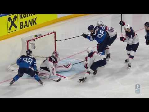 чм по хоккею 2017 США Финляндия  1\4
